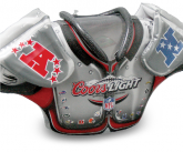 Coors Light NFC AFC Inflatable Shoulder Pads