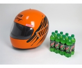 Yellow inflatable racing POS helmet
