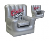 Coors light inflatable POS chair cooler