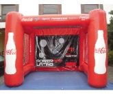 Coke fast pitch inflatable game