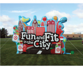 Fun and fit Giant inflatable