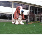 Hush puppies Giant inflatable