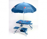 POS Foldable Picnic Table W/ Umbrella