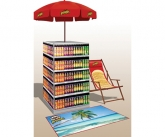 Pringles Beach POS Umbrella Display
