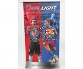 Coors light soccer banner