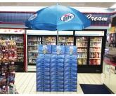 Miller lite umbrella POS display