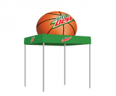 Tent With Inflatable Basketball Topper
