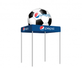 Tent With Inflatable Soccer Topper