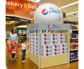 Pepsi Tent With Inflatable Golf Ball Topper