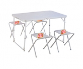 Custom Folding Camping Table w/ 4 Folding Stools